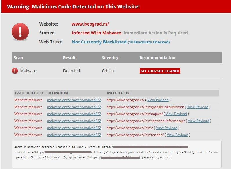 Kako je izvršen hakerski napad na sajt Grada Beograda