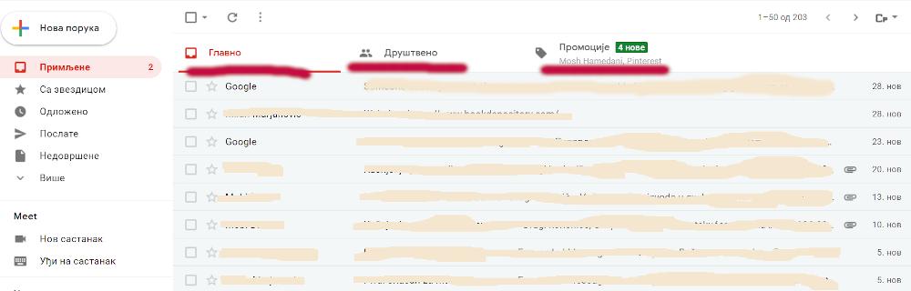 zašto imejl završi na kartici Gmail Promocije